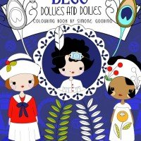 Deco Dollies and Doilies Colouring Book by Simone Gooding