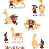 Mayu and Kuychi Character Designs