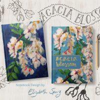 Floral Notebook Cover Design