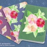 Floral memento notebooks