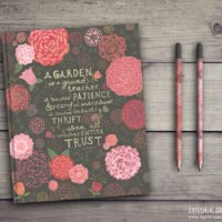 Rose journal design by Cynthia Jacquette