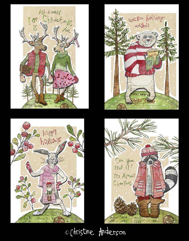 Christmas-4-cards-black-back