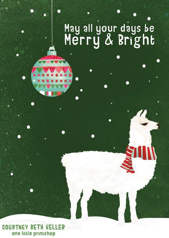 CourtneyBethKeller-Llama-Merry-&-Bright