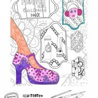 Flapper Girl Colouring Book