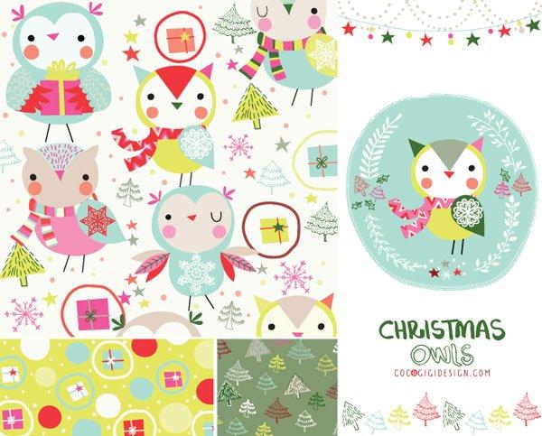 Gina-Maldonado--Christmas-owls
