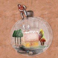 Lumberjack Christmas Ornament