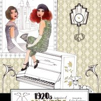 1920s inspired colouring book by Kelly Kratzing