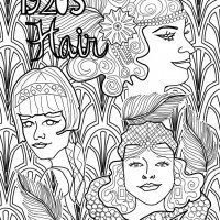 1920's Hair Coloring Book Cover