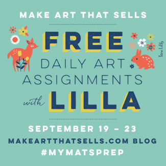 5 Free daily art assignments #myMATSprep | Make Art That Sells